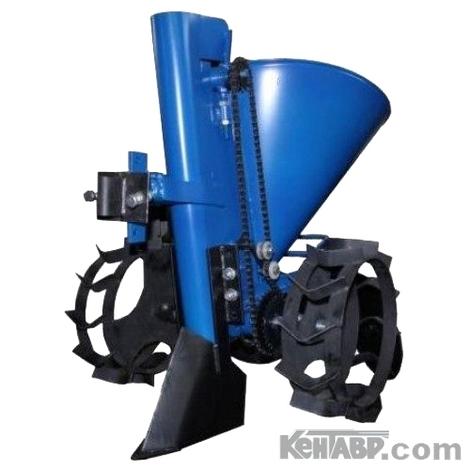 Картофелесажатель Кентавр К-1Л (синий) с транспортировочными колесами